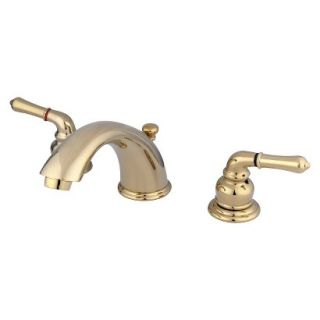 Widespead Polished Brass Bathroom Faucet