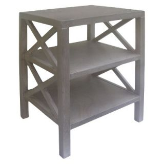Accent Table Threshold X Accent Table   Gray Wash