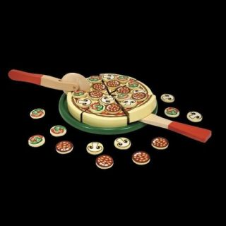 Melissa & Doug Wooden Pizza Party 54 pc. Play Food Set