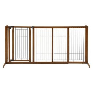 Richell Freestanding Deluxe Pet Gate with Door   Medium