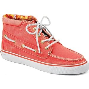 Sperry Top Sider Womens Betty Hot Coral Boots, Size 9 M   9266578