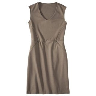 Mossimo Womens Ponte Sleeveless Dress w/ Zippered Pockets   Timber S
