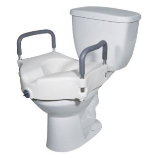 Drive Medical White Toilet Seat with Removable Arms   Standard
