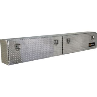 Locking Aluminum Top Mount Truck Box   90 Inch x 12