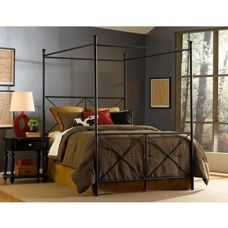 Fashion Bed Group Excel Full size Canopy Bed By Fashion Bed Group Black Size Full