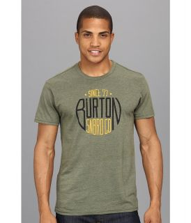 Burton Stamp Recycled Slim Fit Tee Mens Short Sleeve Pullover (Pewter)
