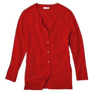 Merona Womens Ultimate 3/4 Sleeve Crew Neck Cardigan   Wowzer Red   XXL