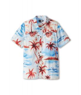 Rip Curl Kids Dream Vacay S/S Shirt Boys Short Sleeve Button Up (Blue)