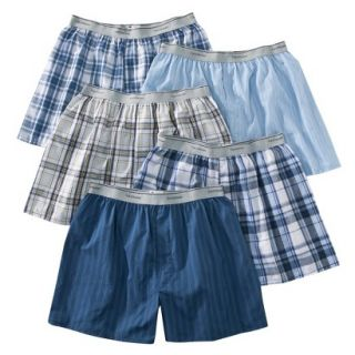Fruit of the Loom Mens Elastic Waistband Boxers 5 Pack   Assorted Colors XXL