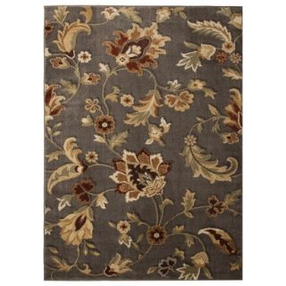 Threshold Jacobean Floral Area Rug   Mushroom (66x10)