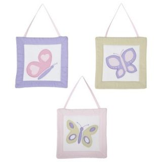 Sweet Jojo Designs Pink and Lavender Butterfly Wall Hangings