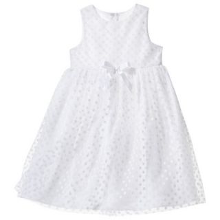 TEVOLIO Infant Toddler Girls Empire Dress   White 3T