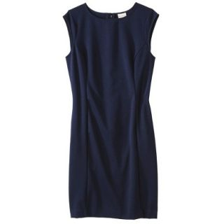 Merona Petites Sleeveless Ponte Sheath Dress   Navy Blue LP