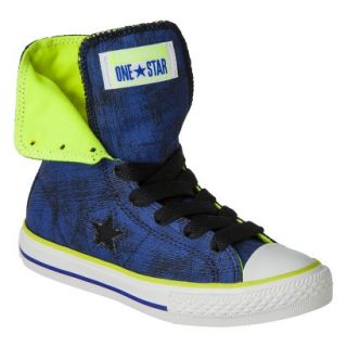 Boys Converse One Star High Top Sneaker   Navy 2.5