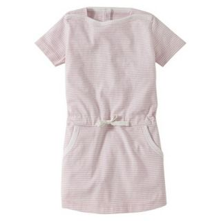 Burts Bees Baby Infant Girls Stripe Boatneck Dress   Blush/Cloud 3 6 M