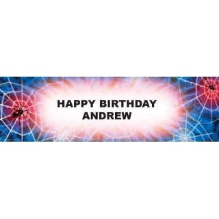 Spiderweb Personalized Birthday Banner