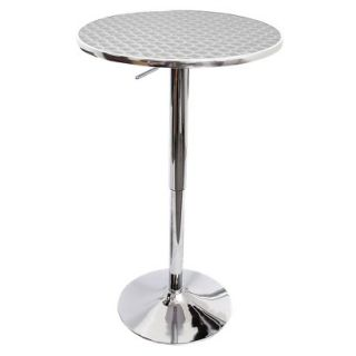 Pub Table Bistro Adjustable Bar Table   Stainless Steel