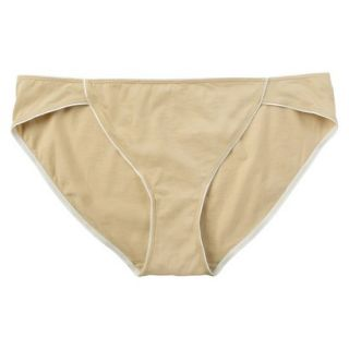 JKY By Jockey Womens Cotton Stretch Bikini   Toasted Beige 8