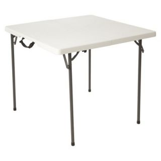 Folding Table Lifetime Square Folding Table   White Granite