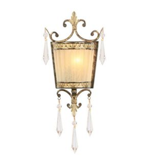 La Bella 1 Light Wall Sconces in Vintage Gold Leaf 8880 65