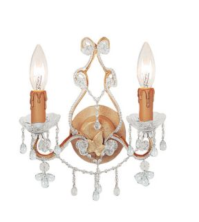 Paris Flea Market 2 Light Wall Sconces in Champagne 4522 CM CLEAR