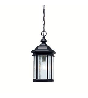 Kirkwood 1 Light Outdoor Pendants/Chandeliers in Black (Painted) 9810BK