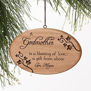 Personalized Blessings of Love Wood Christmas Ornaments