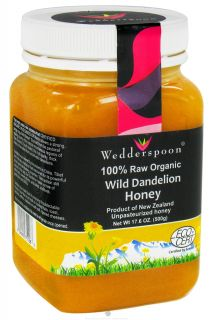 Wedderspoon Organic   100% Raw Organic Wild Dandelion Honey   17.6 oz.