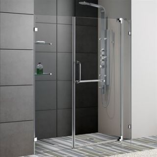 VIGO 66 inch Frameless Shower Door 3/8 Clear Glass