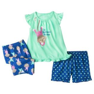 Just One You Made by Carters Infant Toddler Girls 3 Piece Monkey Pajama Set