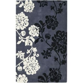 Safavieh Modern Art Area Rug   Dark Grey/Multi (5x8)
