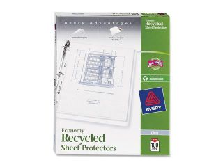 Top Load Recycled Polypropylene Sheet Protector, Semi Clear, 100/Box