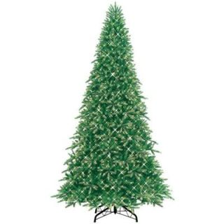 GE 10.5 ft. Pre Lit Deluxe Just Cut Frasier Fir Artificial Christmas Tree with Clear Lights 01108