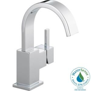 Delta Vero Single Hole 1 Handle High Arc Bathroom Faucet in Chrome 553LF