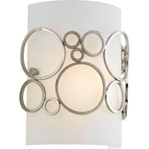 Progress Lighting Bingo Collection 1 Light Brushed Nickel Wall Sconce P7056 09