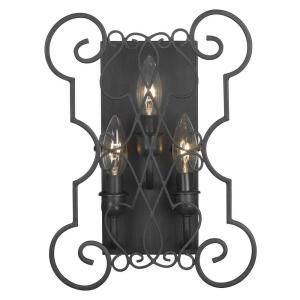World Imports Alistar Rust 3 Lights Iron Wall Sconce WI751342