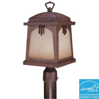 Hampton Bay Outdoor Regency Bronze Post Lantern HD139871