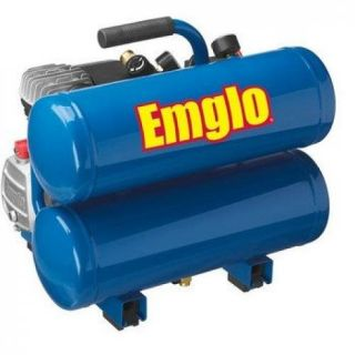 Emglo E810 4V 1.1 HP 4 Gallon Stacked Tank Electric Air Compressor Tires