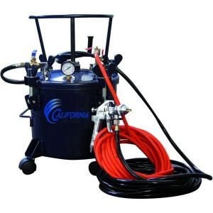 California Air Tools 5 Gal. Pressure Pot Paint Sprayer with HVLP Spray Gun and Hose Kit 365
