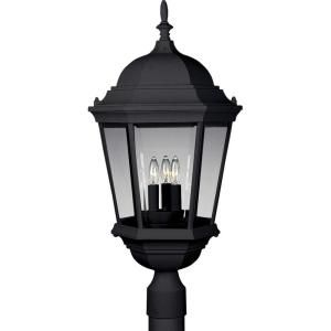 Progress Lighting Welbourne Collection 3 Light Textured Black Post Lantern P5483 31