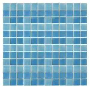 EPOCH Spongez S Light Blue 1408 Mosiac Recycled Glass Mesh Mounted Floor and Wall Tile   3 in. x 3 in. Tile Sample S LIGHT BLUE SAMPLE