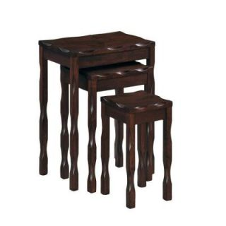 Black Cherry Solid Wood Nesting Tables (3 Piece) DISCONTINUED I 3336
