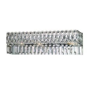 Dale Tiffany London 3 Light Polished Chrome Vanity Wall Fixture with Crystal Shade GH90246