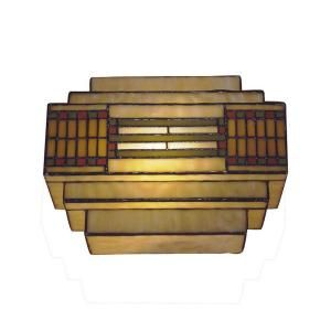 Dale Tiffany 1 Light Antique Bronze Whitefield Tiffany Wall Sconce TH100082