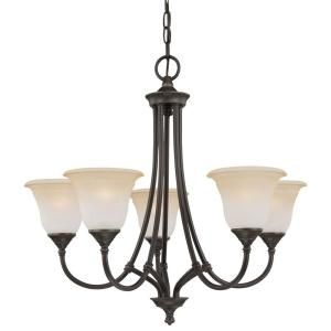 Thomas Lighting Harmony 5 Light Aged Bronze Chandelier SL880162