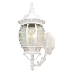Hampton Bay Wall Mount 3 Light Outdoor White Wall Lantern GNC1613A WHT