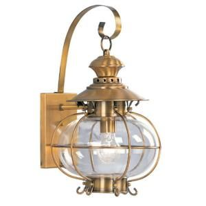 Livex Lighting Providence Wall Mount 1 Light Outdoor Flemish Brass Incandescent Lantern CLI MEN2222 22