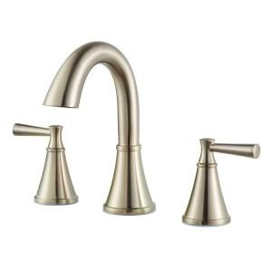 Pfister Cantara 8 in. Widespread 2 Handle High Arc Bathroom Faucet in Brushed Nickel F 049 CRKK