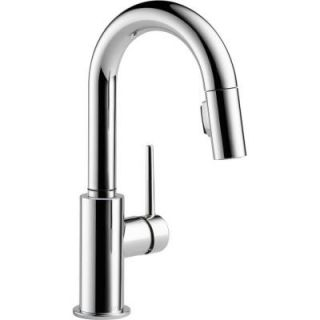 Delta Trinsic Single Handle Pull Down Sprayer Bar Faucet in Chrome 9959 DST