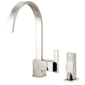 Danze Sirius Single Handle Kitchen Faucet with Veggie Spray in Stainless Steel D401544SS